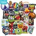 Стикеры «История игрушек» Disney, водонепроницаемые наклейки для скейтборда, гитары, ноутбука, чемодана, автомобиля, крутые Мультяшные Стикер...