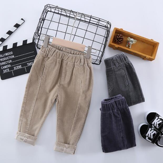 2020 Hot Sell Children Corduroy Trousers Boys Girls Long Cotton Trousers Spring Autumn Casual Pants Girls Kids Crawlers Clothing 3