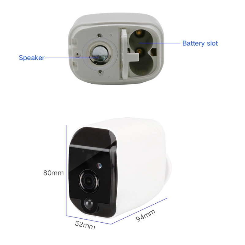 Mool منخفضة الطاقة كاميرا مراقبة لاسلكية المدمج في بطارية كاميرا كاميرا تحر ي الحركة واي فاي