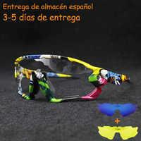 Gafas de sol de verano negro rojo azul Photochromic ciclismo gafas UV400 MTB bicicleta montar en bicicleta TR90 deportes al aire libre gafas