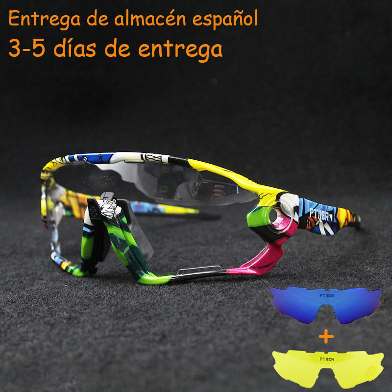 Sunglasses Eyewear Bike Bicycle MTB Riding UV400 Outdoor-Sport Photochromic Polarized title=