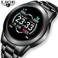 LIGE 2021 New Smart Watch Men Women Sports Watch LED screen Waterproof Fitness Tracker for Android ios Pedometer SmartWatch +Box