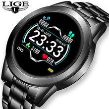 LIGE 2021 New Smart Watch Men Women Sports Watch LED screen Waterproof Fitness Tracker for Android ios Pedometer SmartWatch +Box