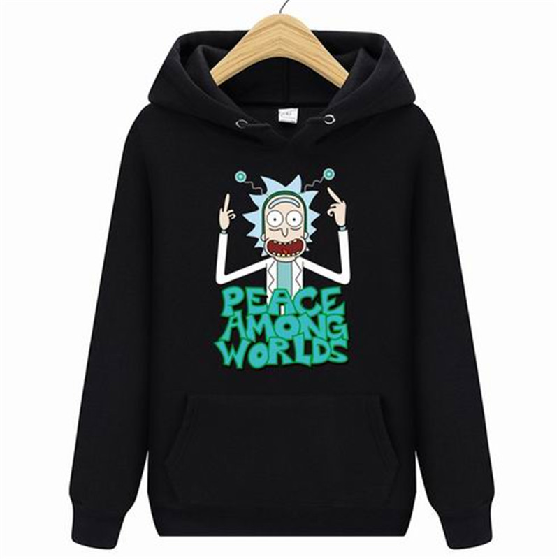 2020 Autum New Design Rick Morty Mens Hoodies Cotton Funny Print Hoodie Man Fashion Rick Morty Casual Hoodie Sweatshirt