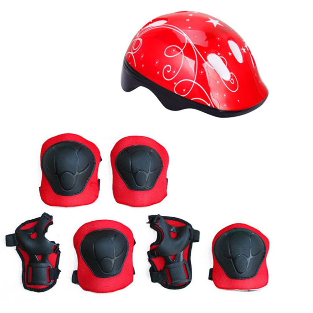 Kids Toys Sprot Protector 7Pcs/set Cycling Skating Skateboard Helmet Elbow Knee Wrist Pads Bike Bicycle Roller Protect Gear