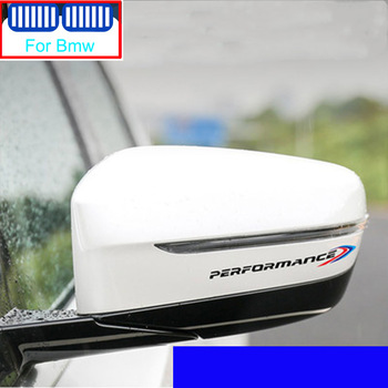 2pcs Car M Performance Rearview Mirror Bumper Sticker For Bmw X1 X3 F25 X5 F15 F20 F30 F10 F11 G01 X4 G02 F26 X2 Z4 X6 E53 X7 image