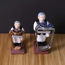Old Butler Man Watch Stand Old Man Bracelet Ring Stand Creative Glasses Holder Watch Storage Table Jewelry Display Rack cheap GOHAND CN(Origin) Jewelry Packaging Display