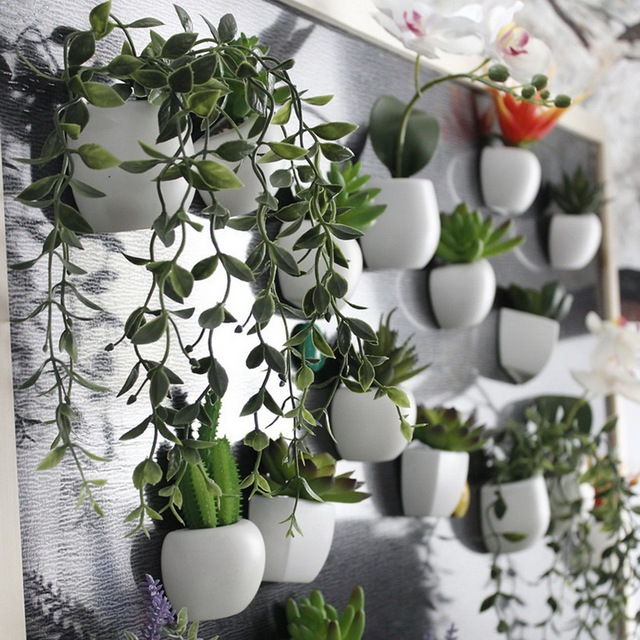 Urijk 1pc Fridge Magnets Cute Cactus Succulent Plant Magnet Button Cactus Refrigerator Message Sticker Home Decor 5