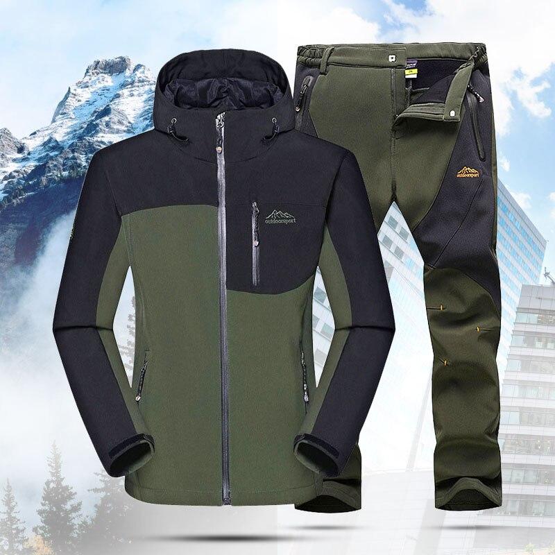MAZEROUT Men 5XL Camping Winter Fishing Camping Trekking Outdoor Hiking Pants Climbing Skiing Softshell Trouser зимняя куртк