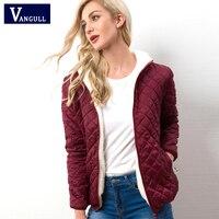 Vangull-chaqueta con capucha para mujer, abrigo informal básico de terciopelo cálido, Parka de cordero, ropa de abrigo para mujer suave y ligera, Otoño e Invierno 2020