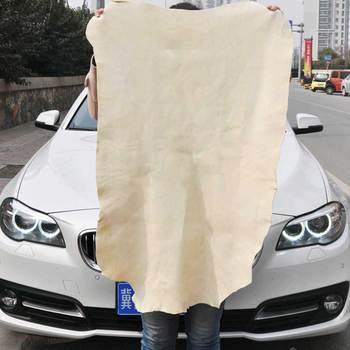 Toalla de piel auténtica, piel de oveja natural, pantalla de limpieza de alta gama, absorbente de piel de oveja para coche