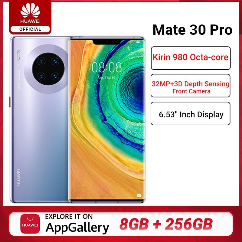 Global Version HUAWEI Mate 30 Pro 8GB 256GB Smartphone 40MP Triple Cameras 32MP Front Camera 6.53'' Screen Kirin 990 Mate 30 Pro