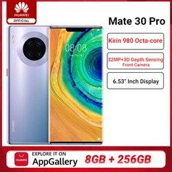 Перейти на Алиэкспресс и купить global version huawei mate 30 pro 8gb 256gb smartphone 40mp triple cameras 32mp front camera 6.53'' screen kirin 990 mate 30 pro