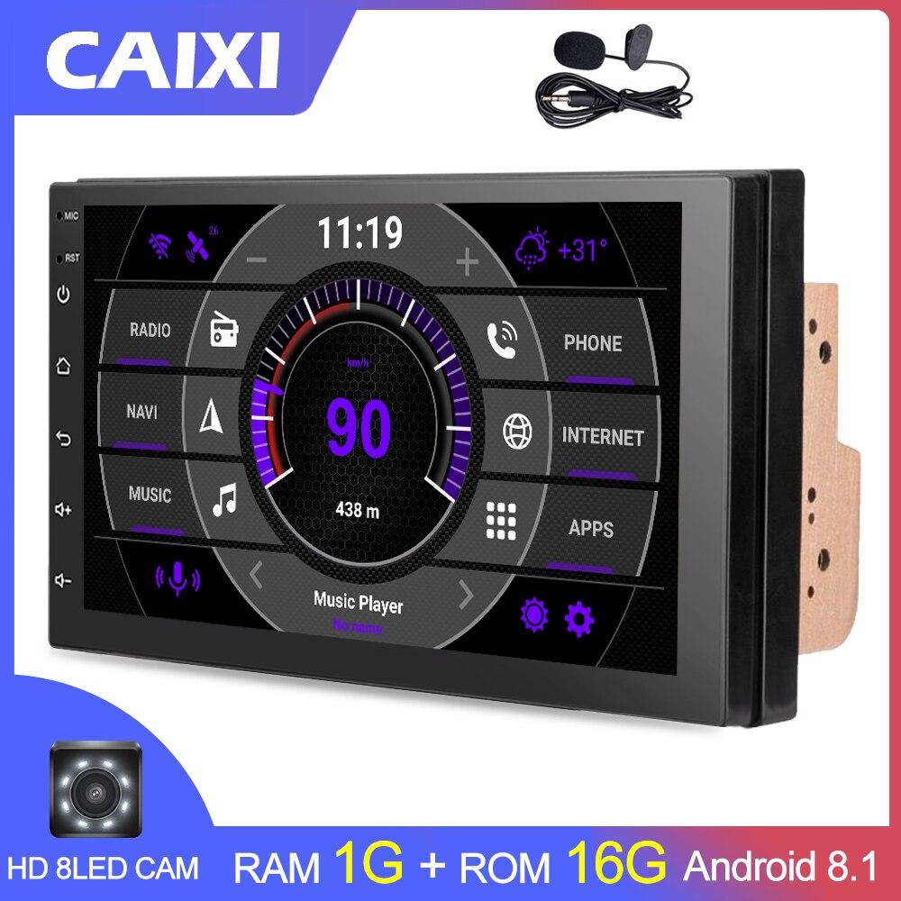 2 Din Android 8.1 Rádio Car Multimedia Para Nissan Volkswagen TOYOTA Honda Hyundai KIA mazda auto Universal Stereo GPS MAPA
