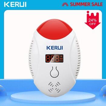 цена на KERUI LED Digital Display Voice Strobe Carbon Monoxide Home Security Smart CO Gas Carbon Alarm Sensor Detector for Alarm Systems