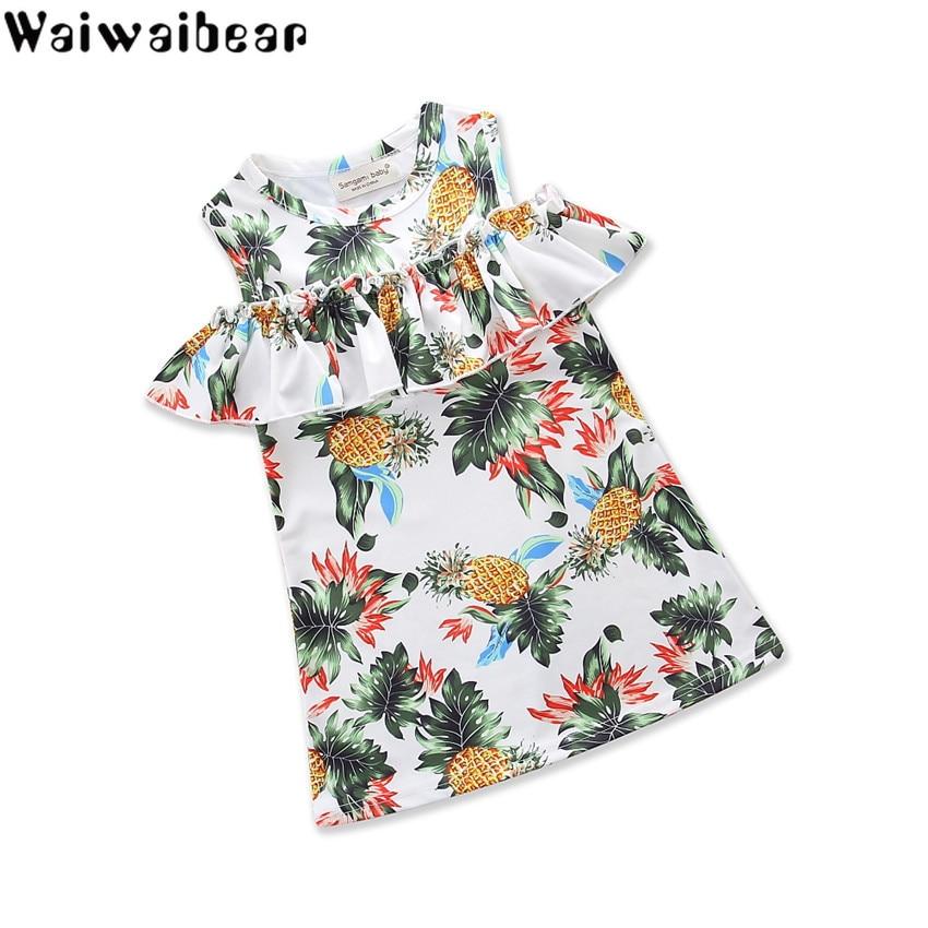 Baby Dress Infant Kids Summer Dresses Girls Short Sleeve Party Tutu Clothes Princess Floral for