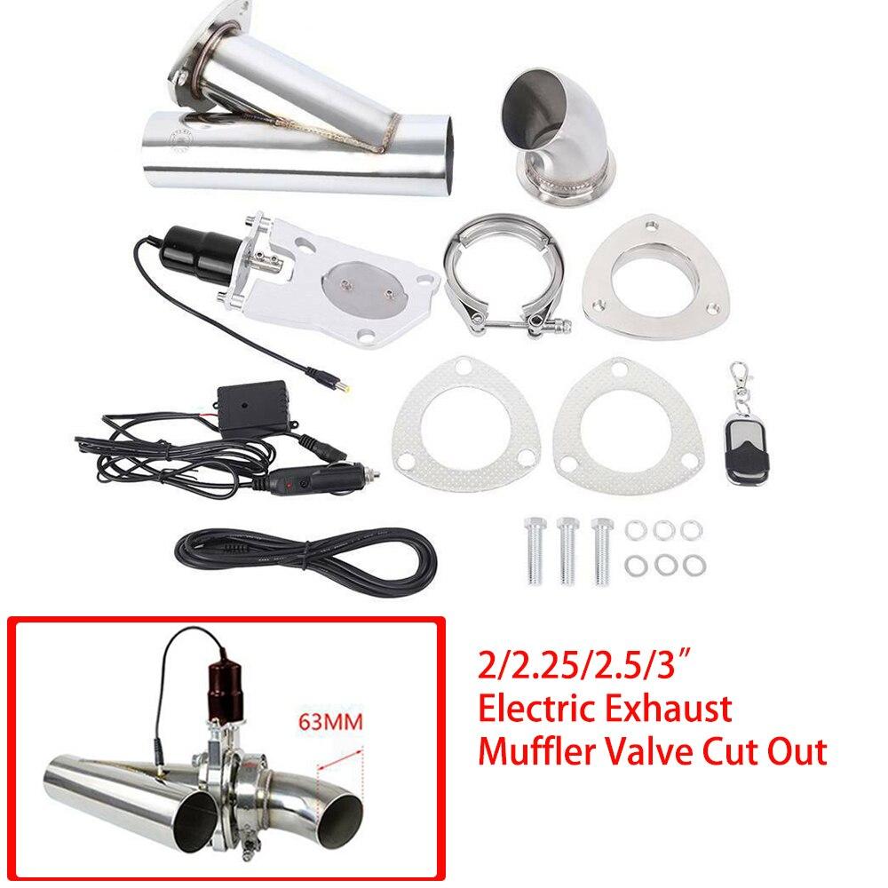 Samger 2/2. 25/2. 5/3 인치 전기 배기 머플러 밸브 자동차 헤더 컷 파이프 전기 밸브 배기 팁 머플러 키트