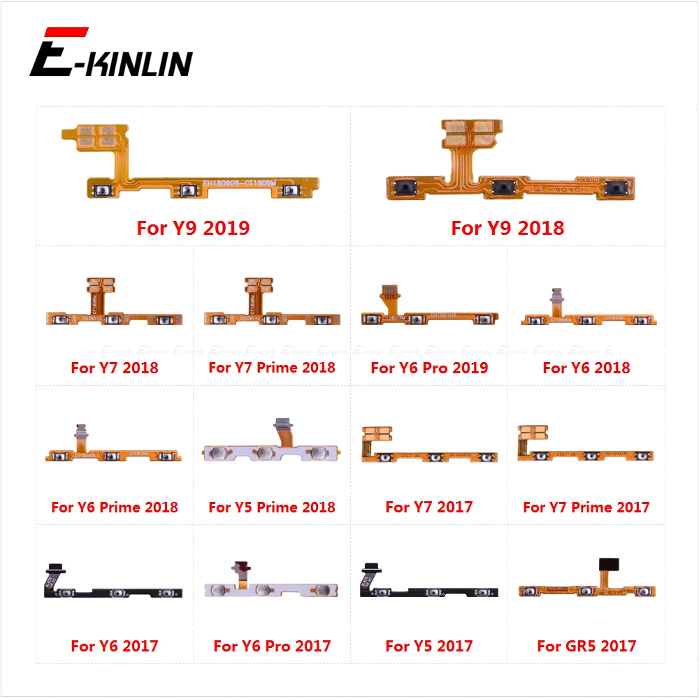 Power ON OFF Mute Switch Control Key Volume Button Flex Cable For HuaWei Y9 Y7 Y6 Pro Y5 Prime GR5 2017 2018 2019 Parts