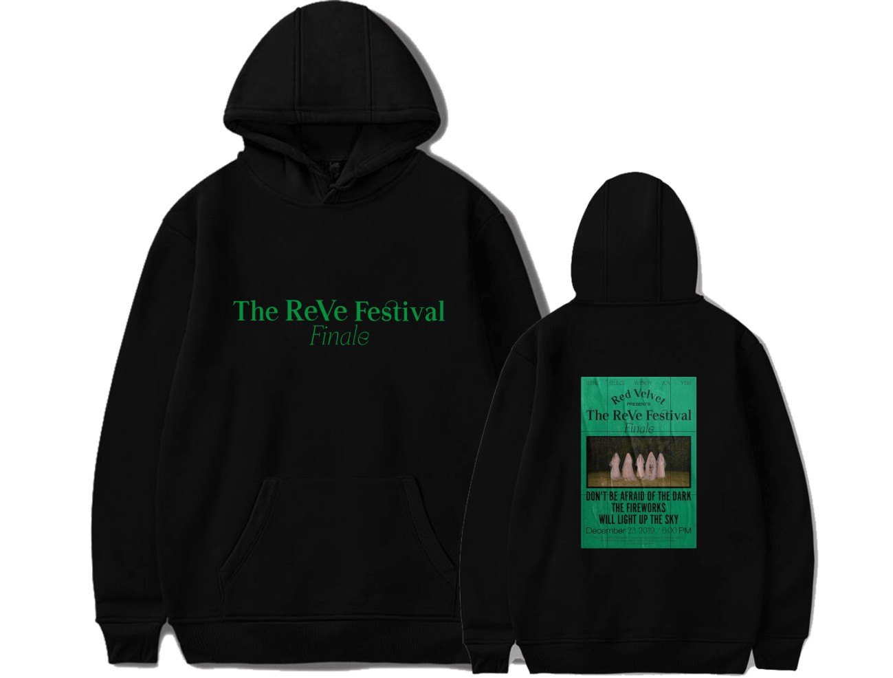 Red Velvet Album TheReVe Festival Finale Printed Hoodies Women/Men Hooded Sweatshirts Kpop Hot Sale Trendy Streetwear Outerwear