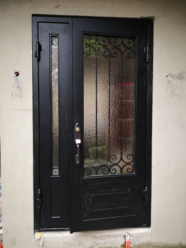 Hench  Main Wrought Iron Single Entry Storm Doors