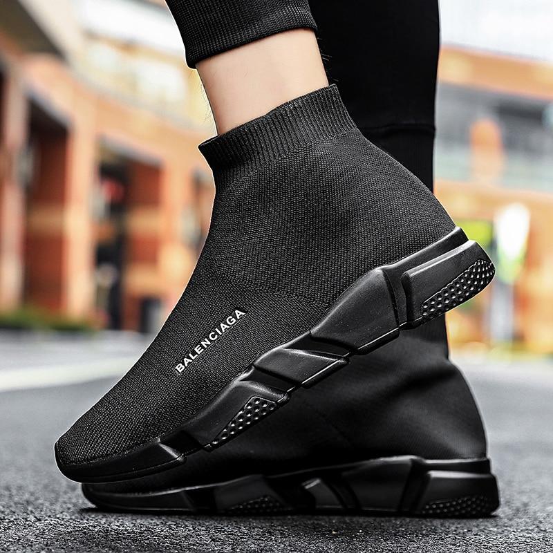 2020 Супер Популярные кроссовки мужские удобные воздухопроницаемые кроссовки для бега мужские кроссовки Zapatos Hombre унисекс Мужские носки Chaussure Homme|Повседневная обувь|   | АлиЭкспресс