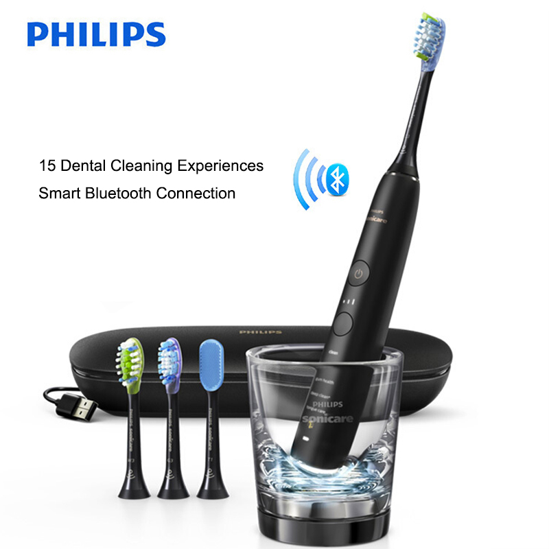 Philips Sonicare HX9924/12 Smart Sonic Toothbrush Diamond Clean Support App with Intelligent Brush Head Sensing 5 Modes image