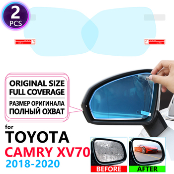 Full Cover Anti Fog Film Rearview Mirror for Toyota Camry 70 XV70 2018~2020 Car Stickers Cars Accessories Clear Mirrors Films image