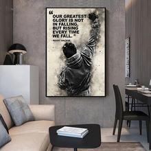 Черно белые Рокки Бальбоа боксерские печатные плакаты и принты