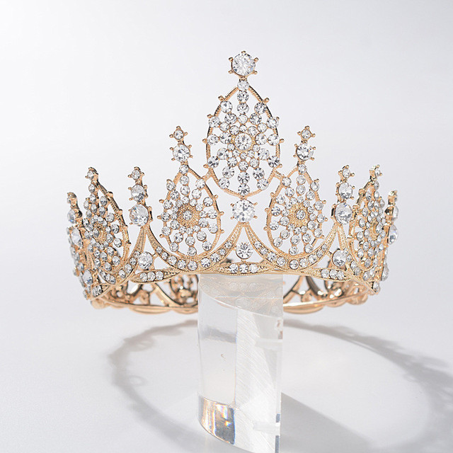 CC Wedding Crown Tiara Hairband Engagement Hair Accessory for Women Big Crowns High Quality Luxury Jewelry Queen Hairwear HG1269