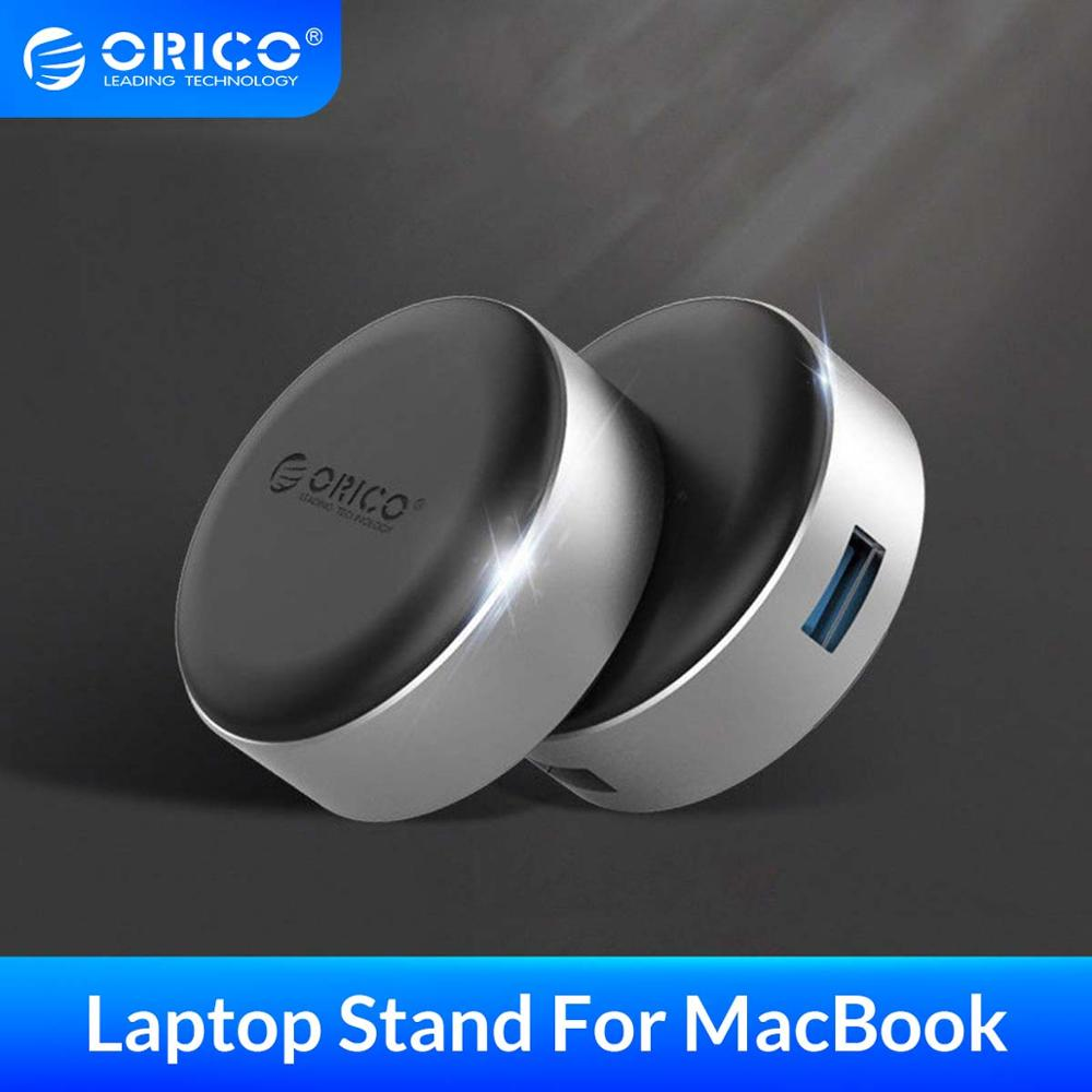 ORICO  Laptop Stand With USB3 0 HUB Aluminum Portable Cooling Pad Heat Dissipation Skidproof Pad Cooler Stand 2 PCS For MacBook
