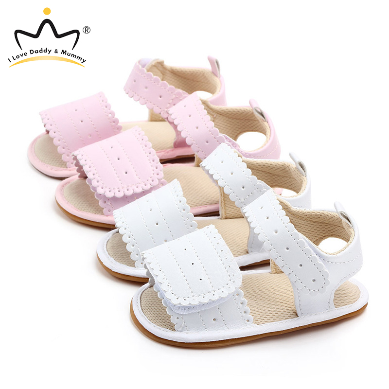 PU Leather Baby Sandals Summer Shoes Infant Toddler Sandals For Girls Soft Sole Non-Slip Bowknot Newborn Sandal
