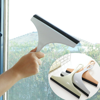 Useful Glass Window Wiper Soap Cleaner Squeegee Mirror Car Blade Brush Home Shower Bathroom Mirror Car Blade image