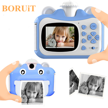 Детская камера Мгновенной Печати камера для детей 1080P HD камера с термобумажными игрушками камера для подарка на день рождения