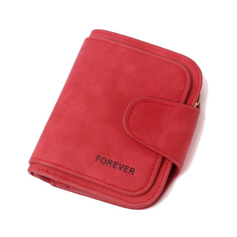 Small Scrub Pu Leather Women Wallet 2020 Solid Casual Lady Purse Short Brand Female Wallet Young Girl Purse Coin Pocket