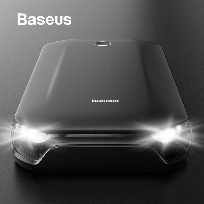 Baseus 8000mAh Car Jump Starter Power Bank for Car Battery Booster 12V Starting Device Power Bank with SOS Light Jump Starter-in Jump Starter from Automobiles & Motorcycles