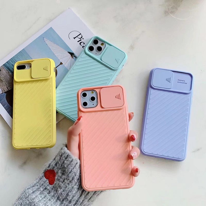 Popular Style TPU Soft Matte Smooth Hand Feeling Pure Color Camera Protection Phone Case For iphone 678/Plus XR XS MAX 11ProMax 2
