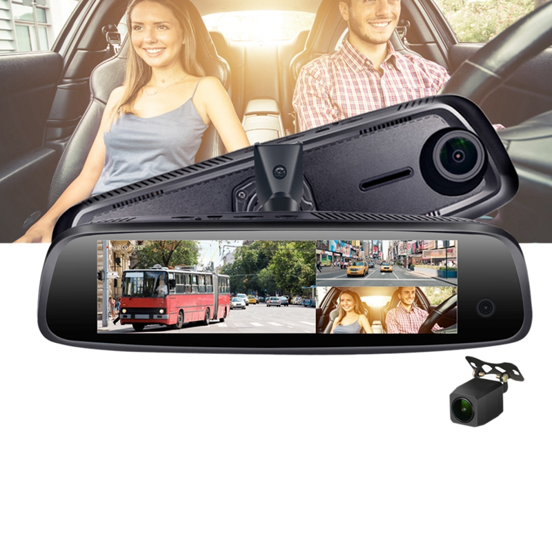 E09 7.84 Inch 4G <font><b>Car</b></font> Camera Mirror Android Gps <font><b>Dvr</b></font> <font><b>With</b></font> <font><b>Two</b></font> <font><b>Cameras</b></font> Wifi Dash Cam Adas Remote Video Recorder image