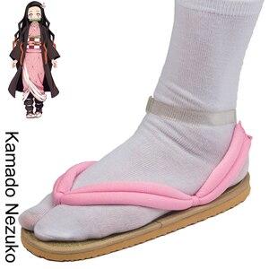Image 3 - Japanese Anime Demon Slayer Kimetsu No Yaiba Cosplay Shoes Tanjirou Sandals Kamado Nezuko Geta Clogs Agatsuma Zenitsu Flip Flops