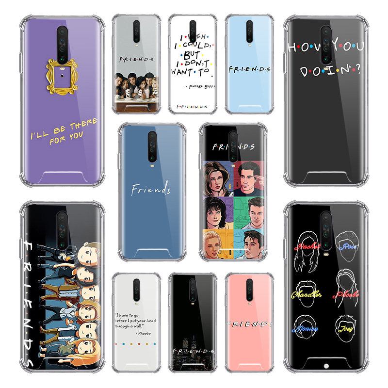Friends Tv Case For Xiaomi Redmi Note 8T 9S 8 9 Pro Max 7 6 K20 K30 Zoom Airbag Anti Fall TPU Phone Covers