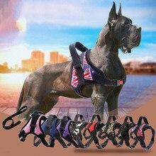 Novo colete para cães de estimação, acessórios para coleira de cachorro, malha respirável com fita reflexiva, coleira para cães de estimação, arreios S/M/L/XL LBShipping