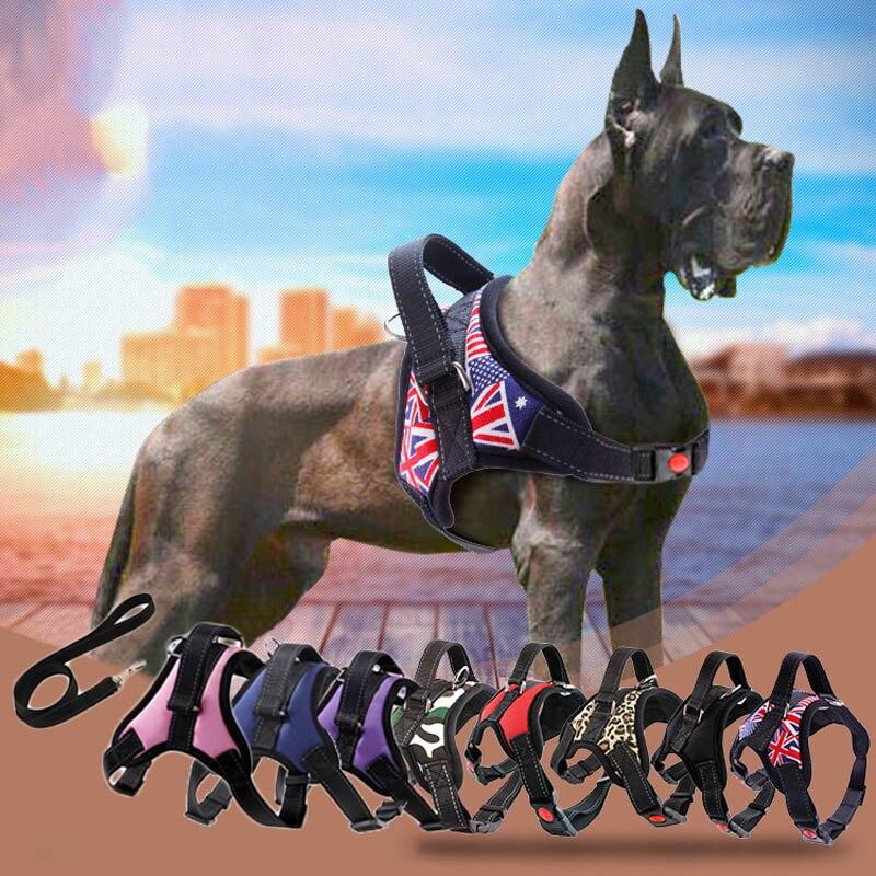 Nuovo Gli Animali Domestici Del Cane del Fascio di Maglia Nastro Riflettente Mesh Traspirante Pet Cani Cablaggio del Guinzaglio del Cane Collare Accessori