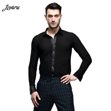 ร้อนขาย Dancewear Mens Dance เสื้อ Breathable Latin Dance เสื้อผ้าสบายเวทีสวมใส่ Ballroom การแข่งขันเสื้อผ้า