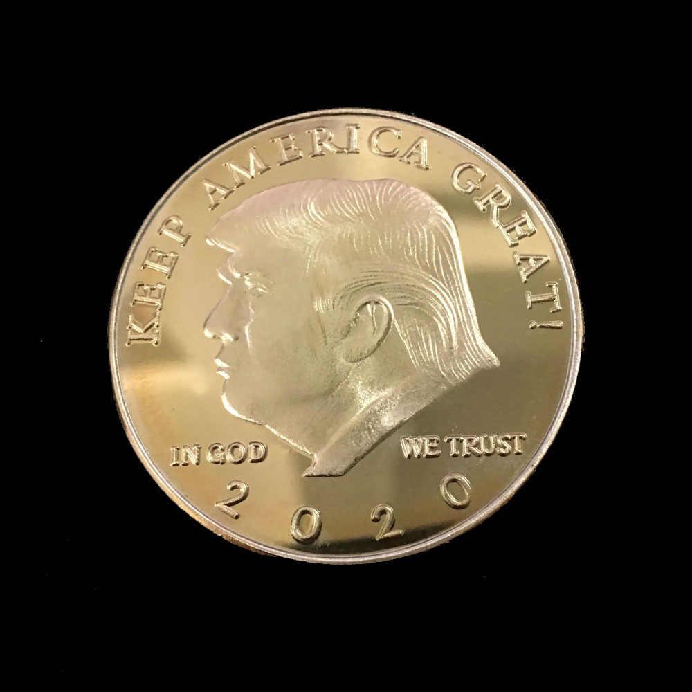 Đồng Vàng Mỹ 45th Tổng Thống Donald Trump Đồng Tiền Hoa Kỳ Nhà Trắng Tượng Nữ Thần Tự Do Kim Loại Bạc Đồng Bộ Sưu Tập 2018