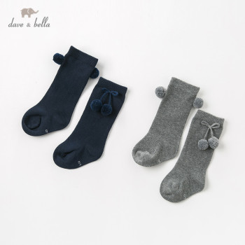 DB12173 dave bella spring fall baby girls Lolita sock children solid lovely socks image