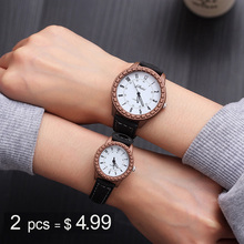 Couple Watches 2019 New Fashion Leather Lover's Wat