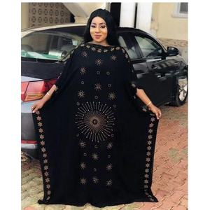 Image 5 - Dress Length:135cm Bust:160 New Fashion dresses Bazin Print Dashiki Women long/grown Yomadou Color Pattern oversized