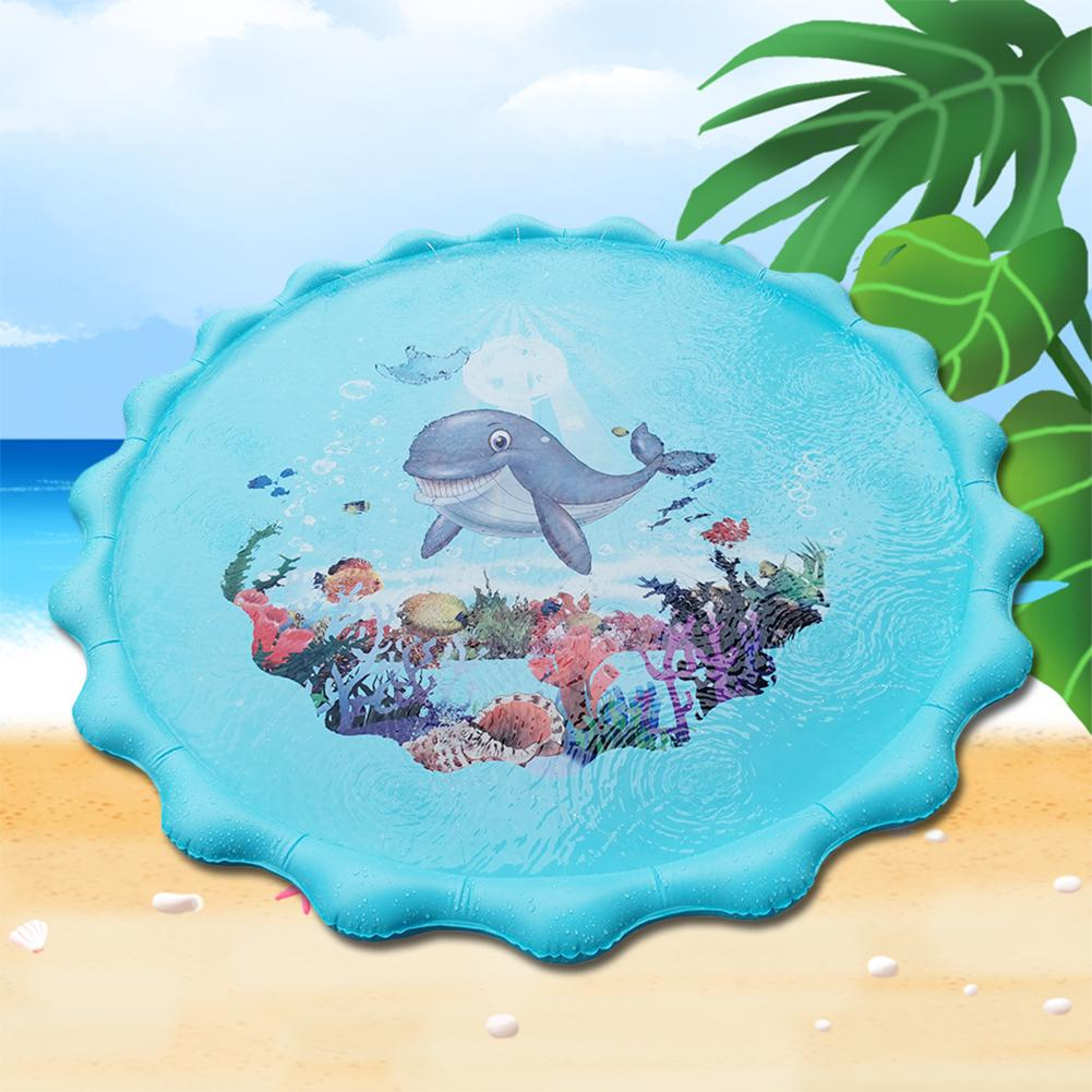 Kids Sea Animal Outdoor Inflatable Sprinkle Splash Mat Water Play Game Cushion Summer Beach Garden Baby Play Water Pads