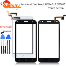 "5,0 ""Für Alcatel One Touch Pixi 4 5,0 OT 5010 5010D 5010E 5010G 5010X OT5010 Touch Screen Panel sensor Digitizer Glas(China)"