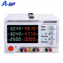 A-BF Lab Power Supply DC Bench Source Stabilized Voltage Regulator Four Digits Multi Channel Three Way Power Bench 30V 3A 5A