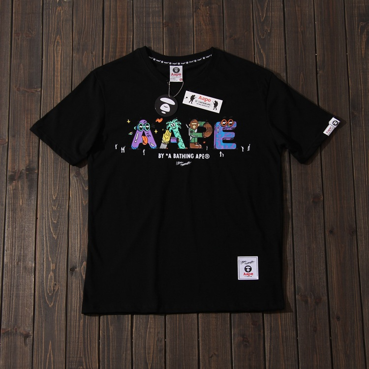 19ss Artist Joint Pop Cartoon Funny Lettered Printed Short Sleeve T-shirt Men And Women COUPLE'S Cool